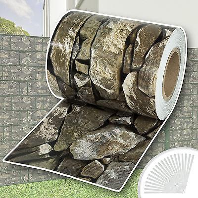 Rollo aislamiento aislante PVC 70m jardín para vallas banda mirada de piedra...