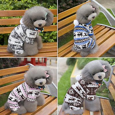 Chihuahua Haustier Hunde Kleidung Winter Warm Fleece Pullover Jumper Hundejacke