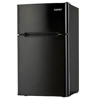 3.2 Cu Ft Mini Fridge Top Freezer Compact Refrigerator 2-Door Kitchen Dorm Home
