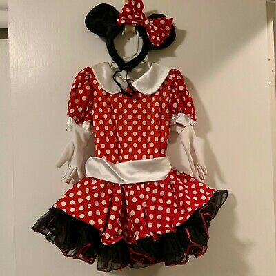 Minnie Mouse Style Dress Cosplay, Halloween, Dance Costume with Accessories. (Mouse Costume Accessories)