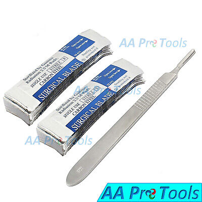 100 Scalpel Blades 15 Pack Scalpel Handle 3 Surgical Knife Dermaplaning