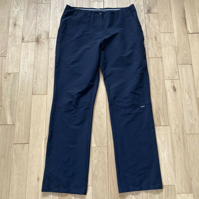 ROHAN Romers Trousers Size 14 Regular Black UV Protection Walking Outdoors L31