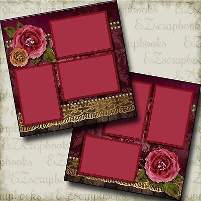 HALLOWEEN ROSE - 2 Premade Scrapbook Pages - EZ Layout 3326 - Halloween Rose
