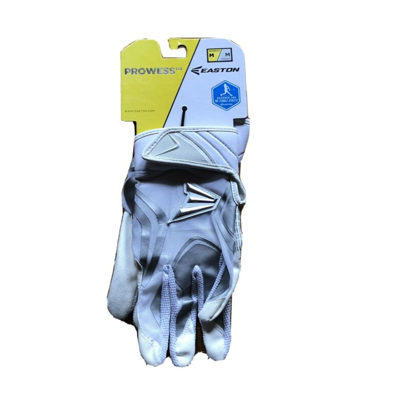 NEW Easton Prowess Fast Pitch Batting Gloves Womens Medium White