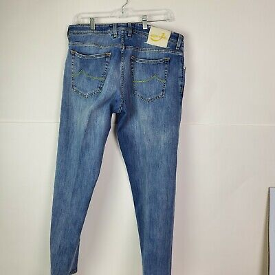 Jacob Cohen Handmade Tailored Luxury Jeans Size 38 Made in Italy Button Fly EUC