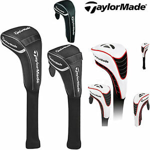 TAYLORMADE-GOLF-HEADCOVERS-LIMITED-EDITION-DRIVER-FAIRWAY-HYBRID-WHITE-NEW