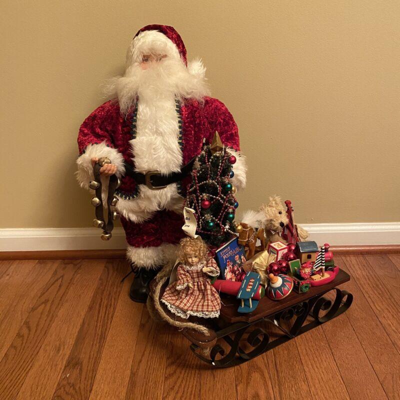 """2006 Holiday Collection 20"""" Santa with Sleigh Christmas Decor, Toys, Christmas"""