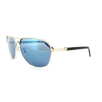 Police Sunglasses S8849M Flash 2 349B Shiny Rose Gold Blue (Cheap Police Sunglasses)