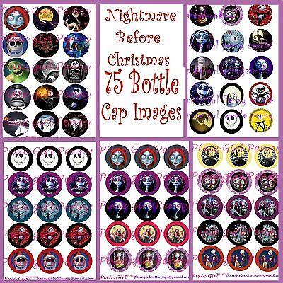 Nightmare Before Christmas Jack Sally 75 Precut Bottle Cap Images Cup Cake Toprs