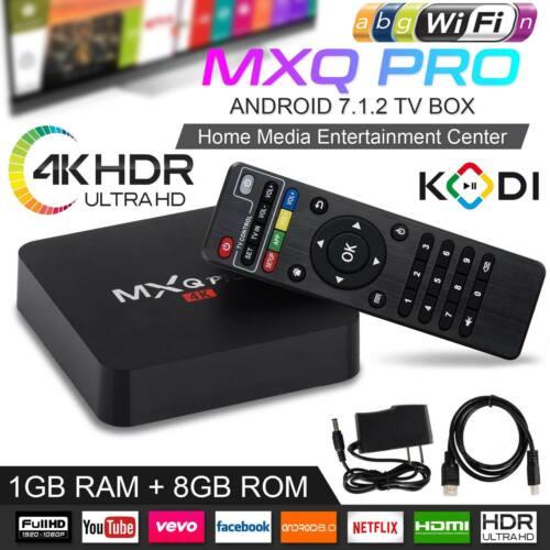 2019 MXQ Pro Android Smart TV Box 8G Quad Core 4K HD 2.4GHz