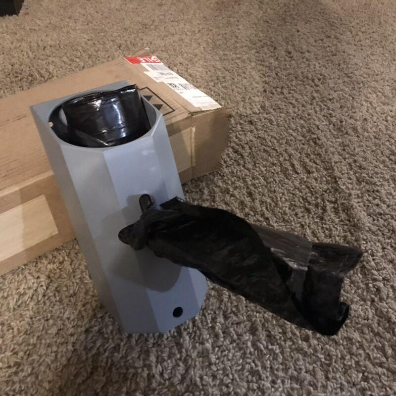 Commercial Trash Bag Roll Holder & Dispenser With Clip