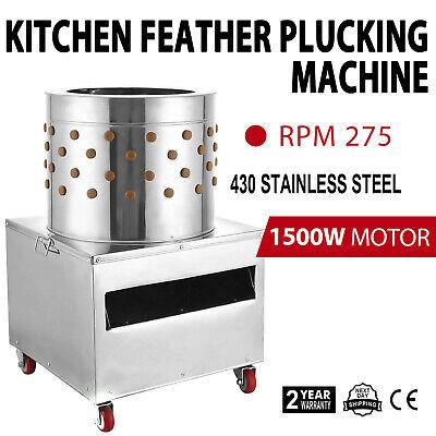 1500w Turkey Chicken Plucker Plucking Machine Poultry De-feather 50 S W Wheels