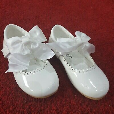 Girls Shoes (White-CMK53) Party, Flower-Girl, Bridesmaid, Communion, Christening