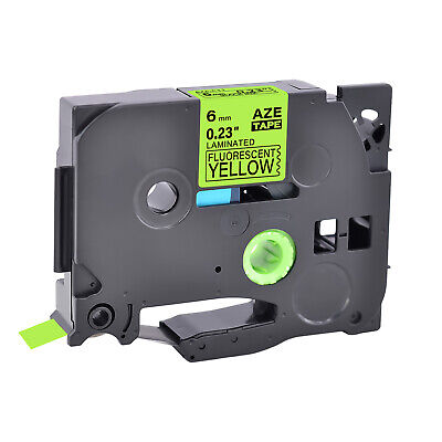 1pk Compatible For Brother P-touch Blackyellow Fluo Label Tape Tze Tz-c11 0.23