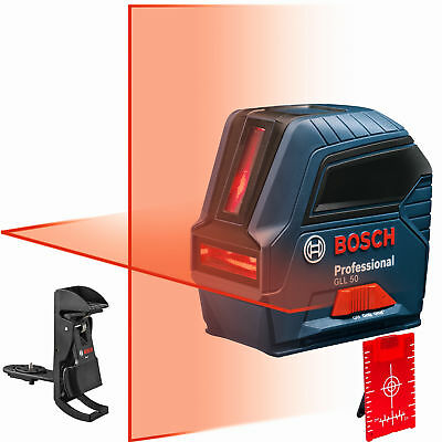 Bosch Gll50-rt Self-leveling Cross-line Laser Kit Factory Mfr Refurbished