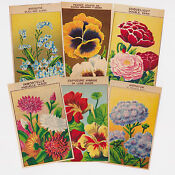 Vintage Flower Seed Packets