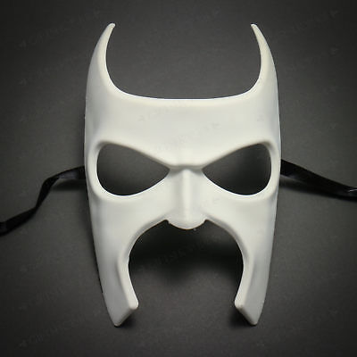 White Batman Full Face Costume Party DIY Venetian Masquerade Halloween Mask (Diy Halloween Batman)