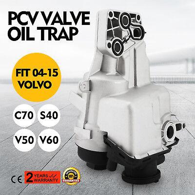 31338685 PCV Valve Oil Trap Oil Filter Housing For 2004-14 Volvo C70 S40 V50