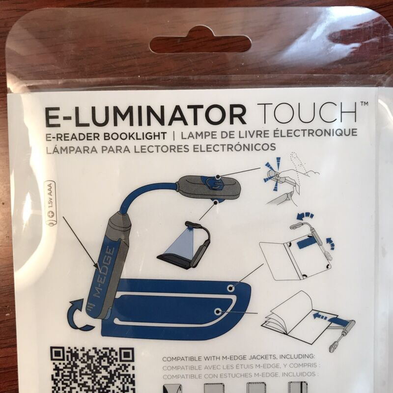 M-EDGE E-Reading E-Luminator Touch E-Reader Booklight New Sealed