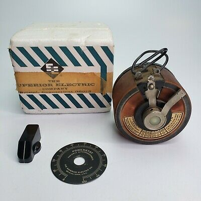 The Superior Electric Company Type 10 Powerstat Variable Transformer