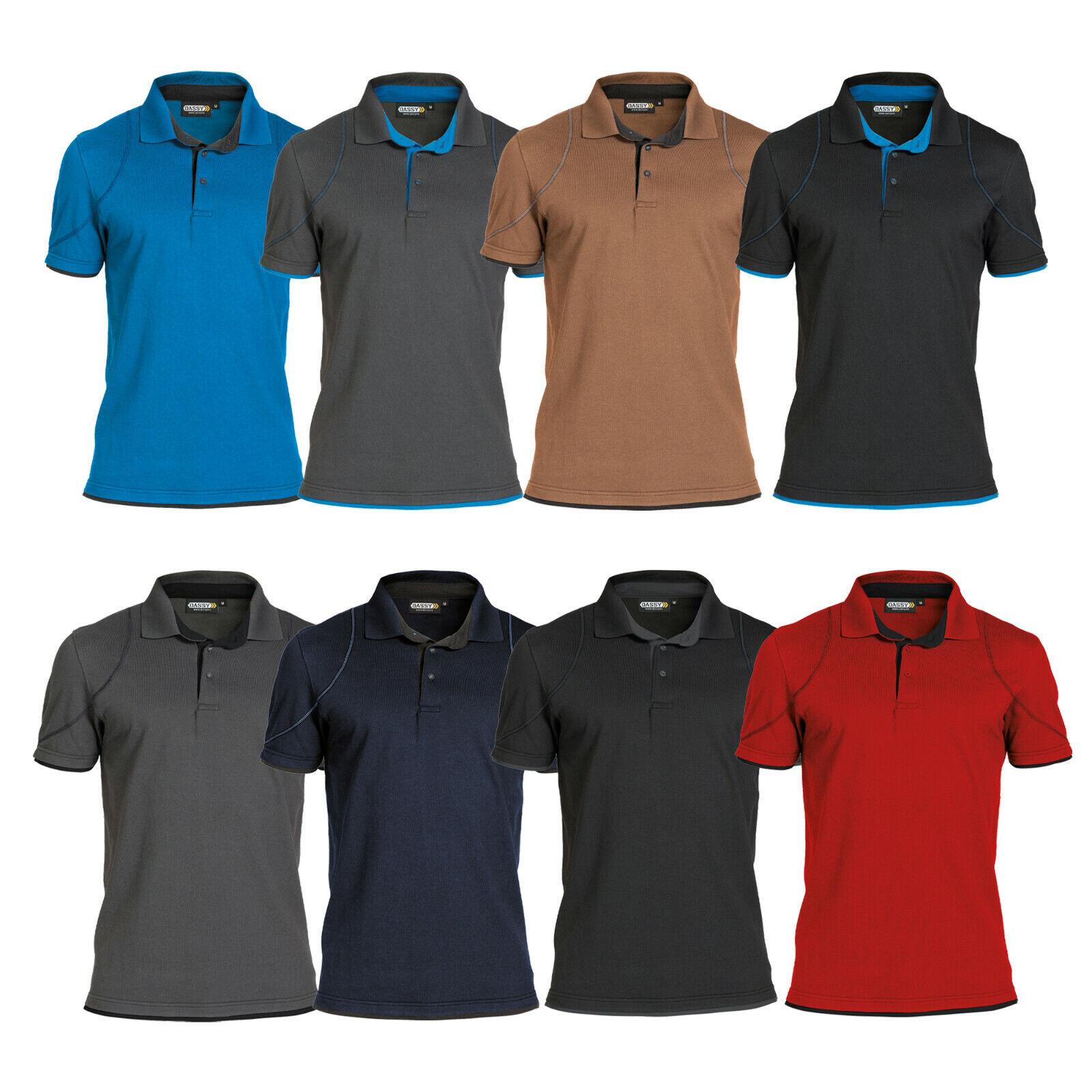 DASSY® Orbital Zweifarbiges Poloshirt Arbeitsshirt Arbeitskleidung Herren Polo