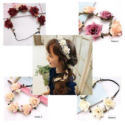 Mädchen Haarband Blume Blumen Bunt Rot Haareschmuck Elastisch Accessoires Kinder Mädchen Band