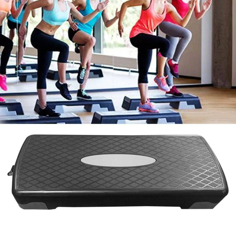 """27'' Fitness Aerobic Step Adjust 4-6"""" Exercise Stepper w/Ris"""