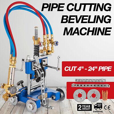 Cg-211y Manual Gas Cutting Machine Pipe Beveler Machine Torch Track Chain Cutter