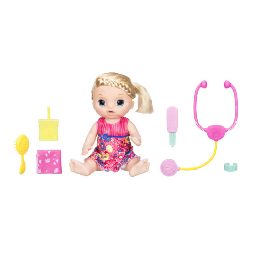 Baby Alive Sweet Tears Blonde Hair Baby Doll, Cries Tears, Doctor Visit Accessor