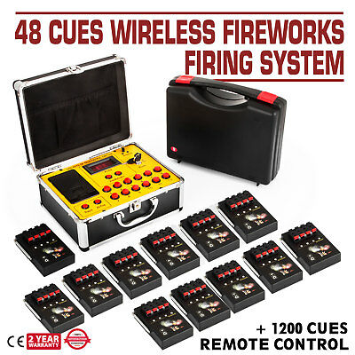 2018NEW+48 Cues FCC Fireworks Firing System+1200Cues Fireworks Remote Control