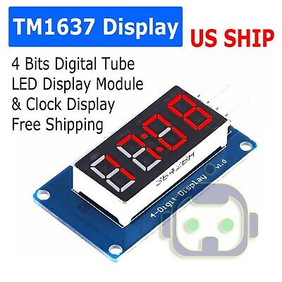 4 Bits Digital Tube Led Display Module With Clock Display Tm1637 For Arduino