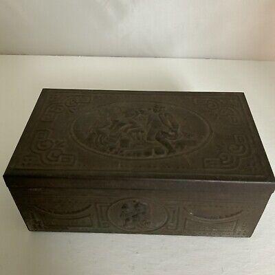 Antique Vintage Decorative Metal Box