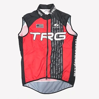 NEW Voler M1014 Mens M Red TRG US Flag Graphic Full-Zip S L Cycling Jersey  Vest 09164ff68