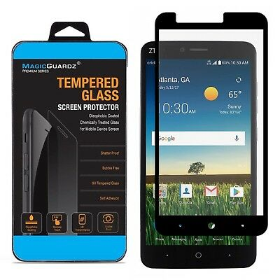 MagicGuardz� Full Cover Tempered Glass Screen Protector for ZTE Zmax Pro Z981