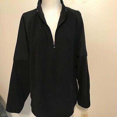 Bolle Golf Mens Fleece Pullover Sweater Jacket Extra Large Black 1/2 zip pockets Fleece-pullover Golf