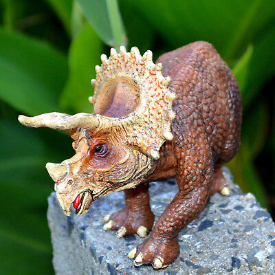 Triceratops Solid Plastic Dinosaur Figure Toy Model Best Gift For Kid Trike