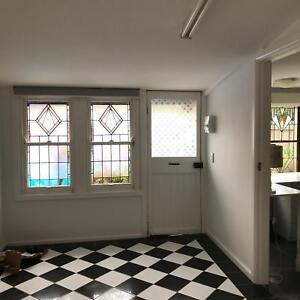 One bedroom granny flat in quiet leafy garden