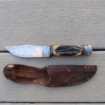Cattaraugus Stag fixed blade knife (lot#11796)