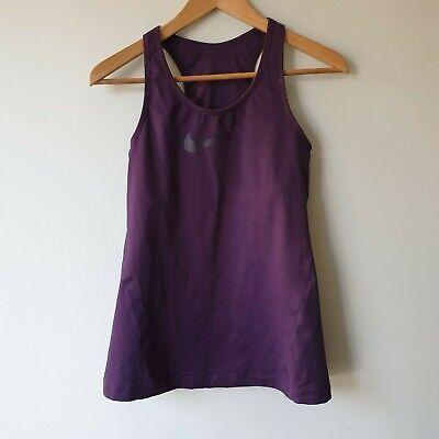 Nike Womens Size M Purple Sports Bra Top Dri-Fit Racerback Fitness Exercise Yoga