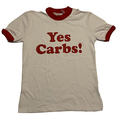 GCDS Barilla White Yes Carbs Graphic Short Sleeve T Shirt Mens Size Small