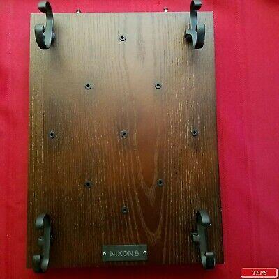 Nixon Watch Display Sign 12x 16x 1.75 Wood W 4 Holders