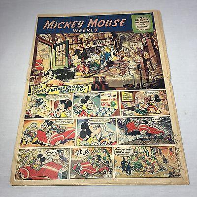Vintage Walt Disney's Mickey Mouse Weekly Comics ~ Week Ending May 26,1951