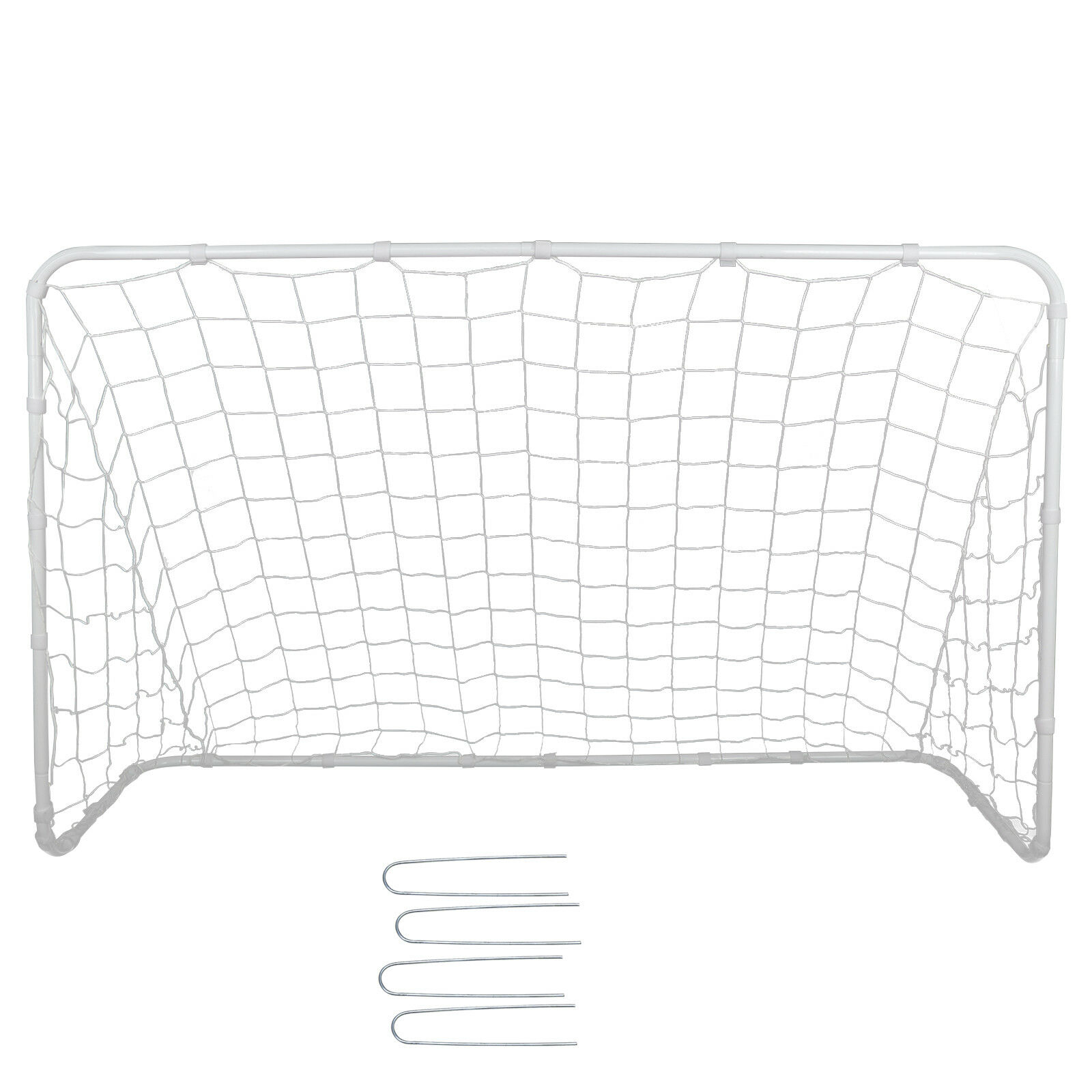 Portable Youth Size 4×6 Ft Practice Soccer Goal w/ Ground Stakes & Strips Goals & Nets