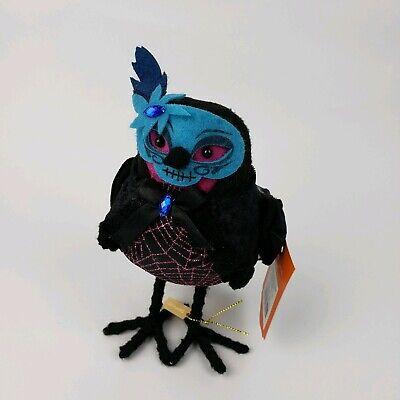 Target - Hyde and Eek! Halloween Fabric Bird - masked masquerade -blue spiderweb (Target Halloween Masks)