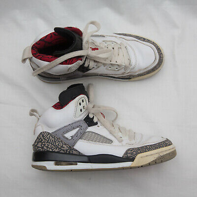 Nike Air Jordan Spizike Shoes 317321-122 White cement Gray red Size 5Y