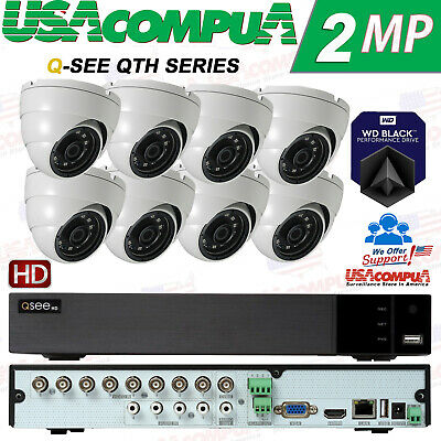 Q-See Security System 8 Channel  KIT QTH98 HD Dome 1080P HARD DISK INCLUDED