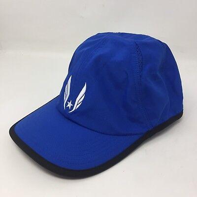 9ad9768d9ca NIKE USATF Dri FIT Featherlight Running Bright Blue Hat Strapback Aerobill  H3A