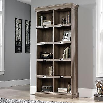 Sauder Barrister Lane Tall Bookcase in Salt Oak Finish, 414108 New