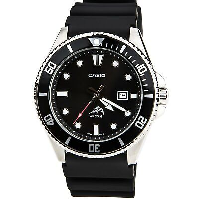 Casio MDV106-1A Men's Black Dial Black Resin Strap Dive Watch
