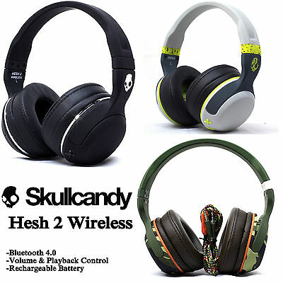 New Skullcandy Hesh 2 Wireless Bluetooth 4 0 Headset Supreme Sound With Mic
